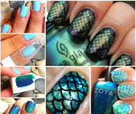DIY Mermaid Nails