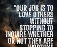 Our job is to love others