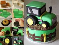 DIY Tractor Cake