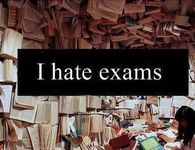 I hate exams