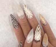 Pretty stiletto nails
