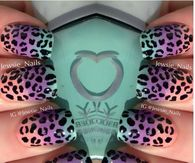 Spring Cheetah Nails