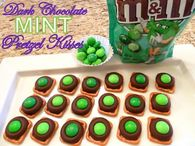 Dark Chocolate Mint Pretzels