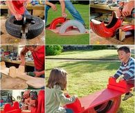DIY Tire See Saw