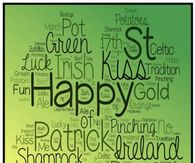 St. Patrick's Day Word Art