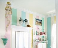 Cute Pastel Striped Bathroom