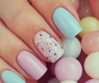 Cute Pastel Nails for Easter