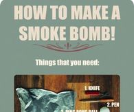 How to make a smoke bomb