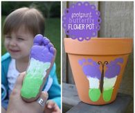 Butterfly Footprint Planter
