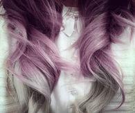 Purple and Gray Hair
