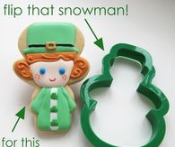 Use Snowman Cookie Cutters For Leprachauns