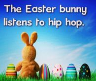 Easter Bunny Listens To Hip Hop