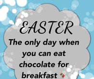 Easter Chocolate for breakfast