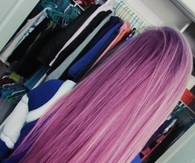 long purple hair