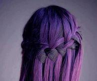 Dark Purple Ombre Hairsyle
