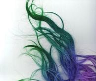 Green Blue and Purple Ombre Hair