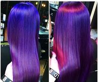 Long Blue Purple and Pik Ombre Hair