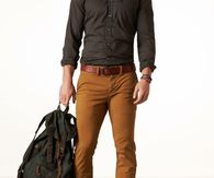 Steel Brown Shirt with Brown Belt And Dark Tan Pants & Boots