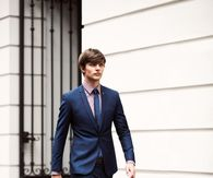 Slim Navy Blue Suit