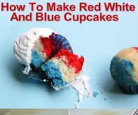 How To Make Red White And Blue Cupcakes