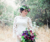 Lush Bohemian Lace Wedding Dress