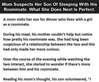 Mom Suspects Her Son Of Sleeping With His Roomate What She Does Next Is Perfect