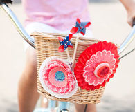 Patriotic Rosettes And Pinwheels For A Kid's Bike