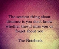 Scariest thing about distance