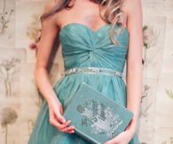 Vintage turquoise dress