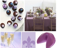 Elegant Purple Baby Shower Theme