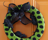 Polka Dot Halloween Wreath