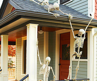 Skeleton Adorned Porch