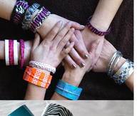 DIY duct tape and washi tape bracelets