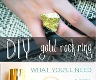 DIY Gold Rock Ring