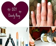 DIY Dainty Ring