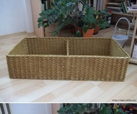 DIY Newspaper Basket with Compartments