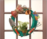 DIY Garden Hose Wreath
