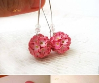 DIY Delicate Flower Ball Earrings