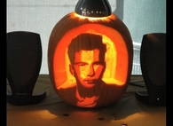 Rick Astley Pumpkin Art