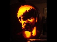 Samuel L Jackson in Pulp Fiction Jack o lantern