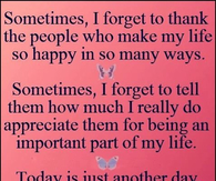 thank you for being there