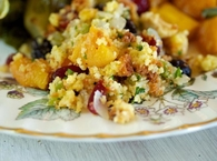 Fruit and pecan cornbread stuffing