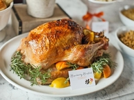 Citrus and herb roasted turkey and gravy