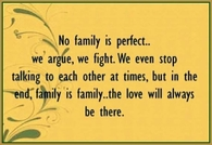 no family is perfect