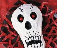 Scary skull cake
