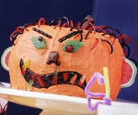 Monster face cake