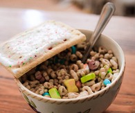 Lucky charms and poptarts