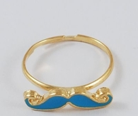 Iron Moustache Ring