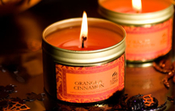 Orange cinnamon candles