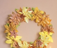 Ribbon poinsettia wreath